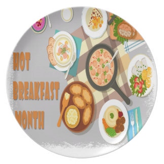 February - Hot Breakfast Month - Appreciation Day Dinner Plate