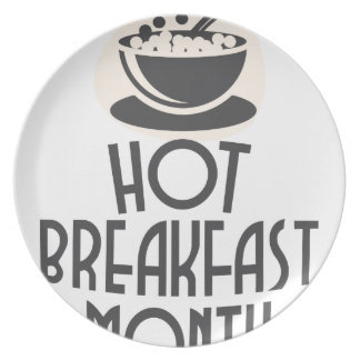 February - Hot Breakfast Month - Appreciation Day Dinner Plates