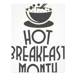 February - Hot Breakfast Month - Appreciation Day Letterhead