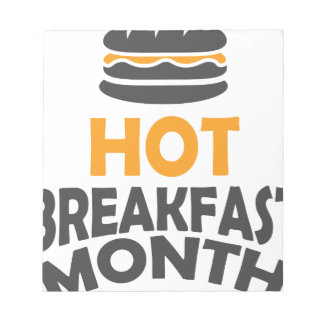 February - Hot Breakfast Month - Appreciation Day Notepad