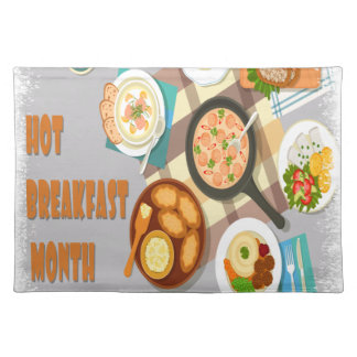 February - Hot Breakfast Month - Appreciation Day Placemat