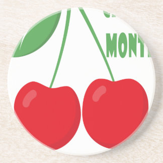 February is Cherry Month - Appreciation Day Coaster