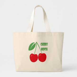 February is Cherry Month - Appreciation Day Large Tote Bag