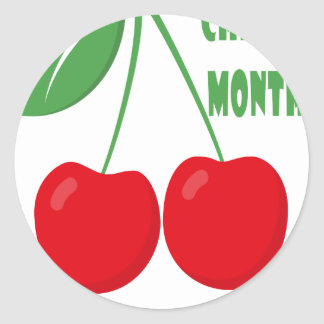 February is Cherry Month - Appreciation Day Round Sticker