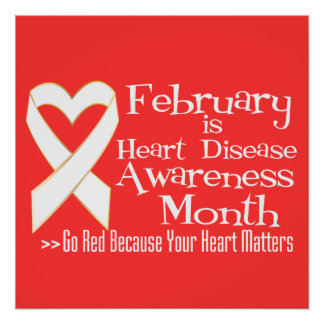 February is Heart Disease Awareness Month Poster
