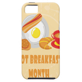 February is Hot Breakfast Month - Appreciation Day iPhone 5 Cover