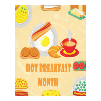 February is Hot Breakfast Month - Appreciation Day Letterhead