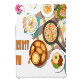 February is Hot Breakfast Month Cover For The iPad Mini