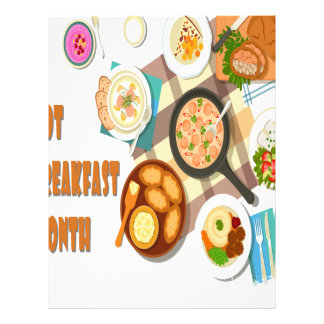 February is Hot Breakfast Month Letterhead