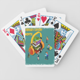 February is Library Lovers' Month Appreciation Day Bicycle Playing Cards