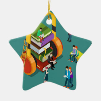 February is Library Lovers' Month Appreciation Day Ceramic Ornament