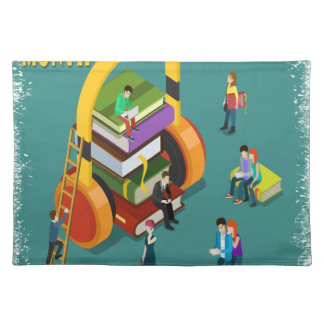February is Library Lovers' Month Appreciation Day Placemat