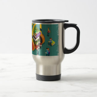 February is Library Lovers' Month Appreciation Day Travel Mug