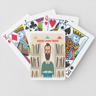 February - Library Lovers' Month Appreciation Day Bicycle Playing Cards