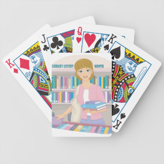 February - Library Lovers' Month Bicycle Playing Cards