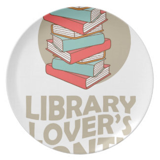 February - Library Lovers' Month Dinner Plate