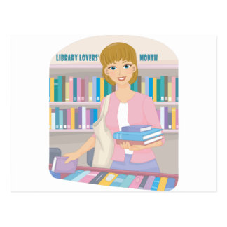 February - Library Lovers' Month Postcard