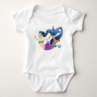 February Mermaid Baby Bodysuit