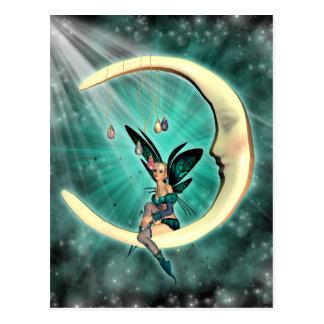 February Moon Fairy Fantasy Post Card