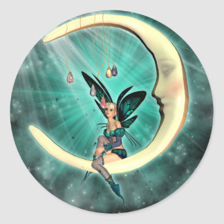 February Moon Fairy Stickers