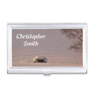 February Morning #1 Business Card Case