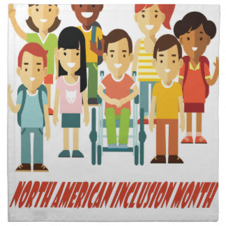 February - North American Inclusion Month Napkin