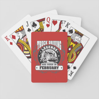 February Truck Driving Legends Playing Cards