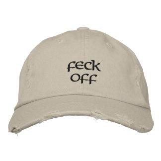 """""""Feck off"""" distressed baseball cap"""