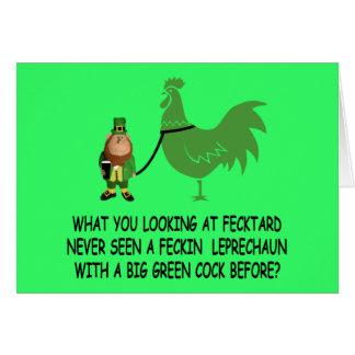 Fecktard du jour de St Patrick heureux Carte De Vœux