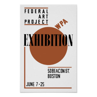 Federal Art Project WPA Exhibition Poster