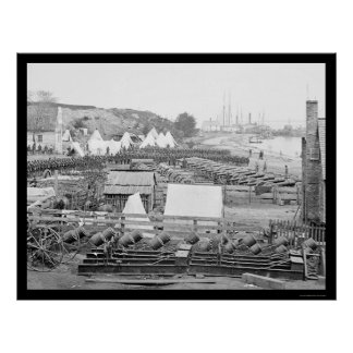 Federal Artillery Park in Yorktown 1862 Poster