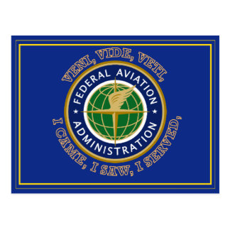 Federal Aviation Administration Shield Post Card