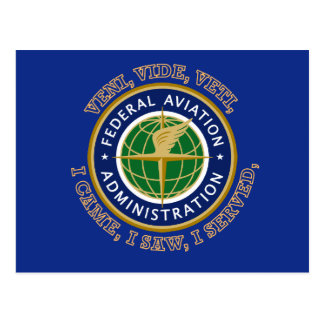 Federal Aviation Administration Shield Post Cards