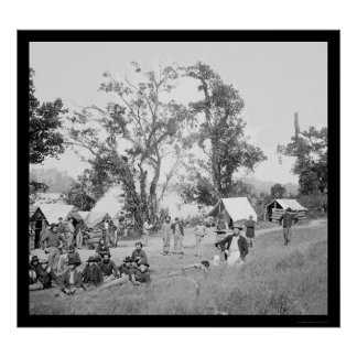 Federal Camp After the Battle of Chattanooga 1864 Poster