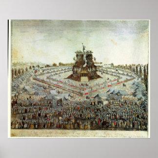 Federal Camp at Lyon, 30th May 1790 Poster