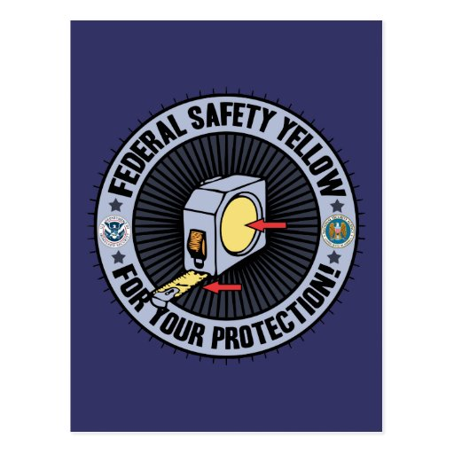Federal Safety Yellow Postcards