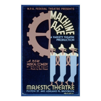 Federal Theatre presents a Musical Comedy WPA Poster
