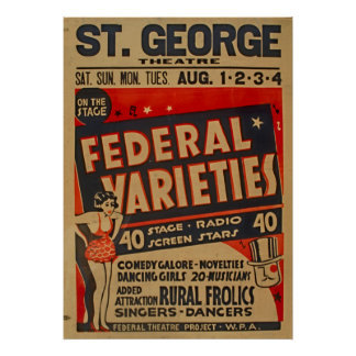 Federal Variety Acts 1937 WPA Poster