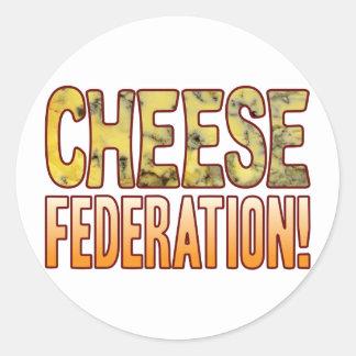 Federation Blue Cheese Round Sticker