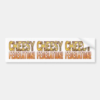 Federation Blue Cheesy Bumper Sticker