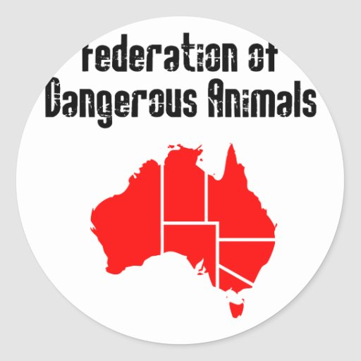 Federation of Dangerous Animals Round Sticker