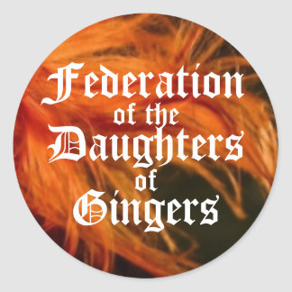 Federation of the Daughters of Gingers Round Sticker