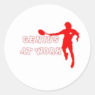 Federer Tshirt Genius at Work Stickers
