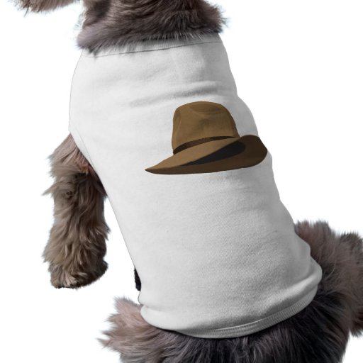 Fedora bush hat doggie tshirt