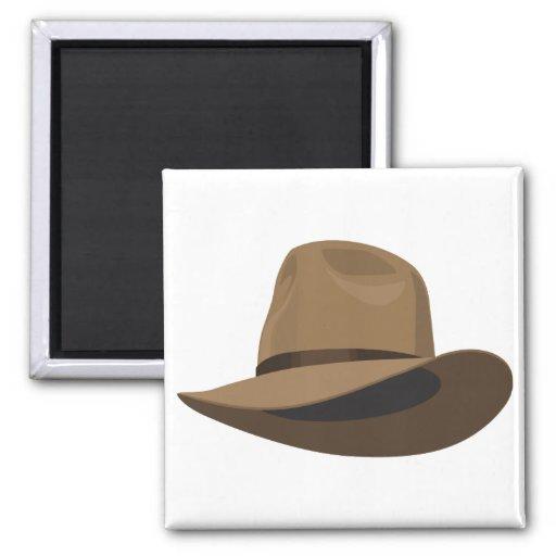 Fedora bush hat magnet