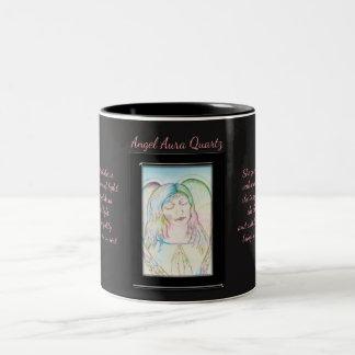 Fée de quartz d'aura d'ange mug bicolore
