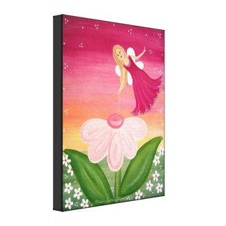 Fée d'étincelle - la fée de la fleur 16x20 badine toiles