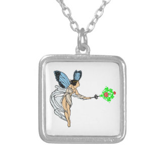 Fee fairie silver plated necklace