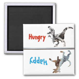Feed Fed Dog Magnet Hungry Happy Dinosaur Funny