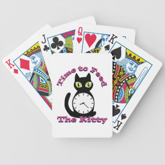 Feed Kitty Bicycle Playing Cards